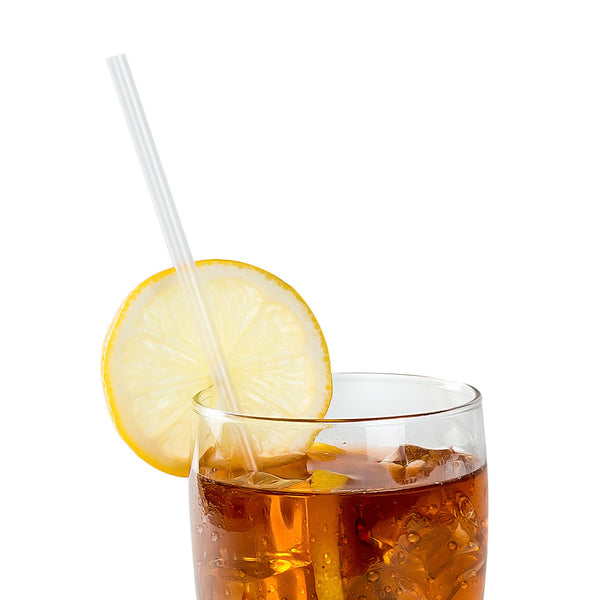 "10.25"" Jumbo Clear Unwrapped Straws with Beverage"