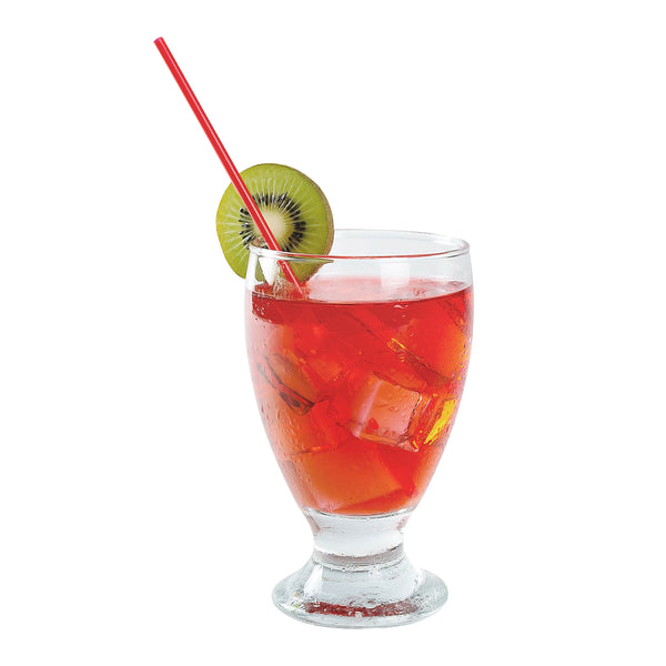 "7"" Red Poly Wrapped Stirrers in Beverage"