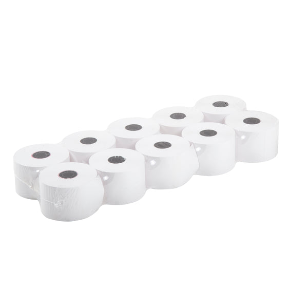 "44mm x 150' 1 Ply 7/16"" ID Core White Register Rolls, Case of 100"