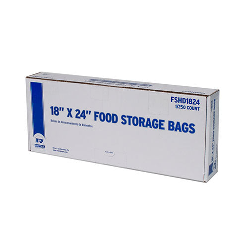 "18"" x 24"" High Density Food Storage Bags, Package of 250"