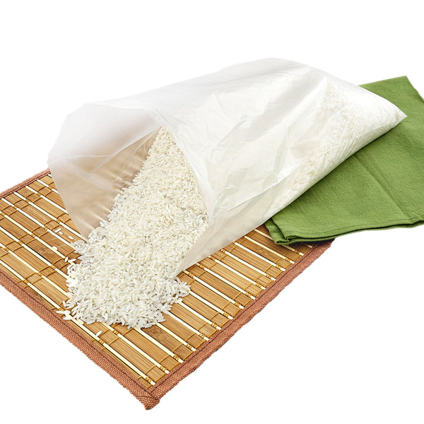 "10"" x 14"" High Density Food Storage Bag with Rice"