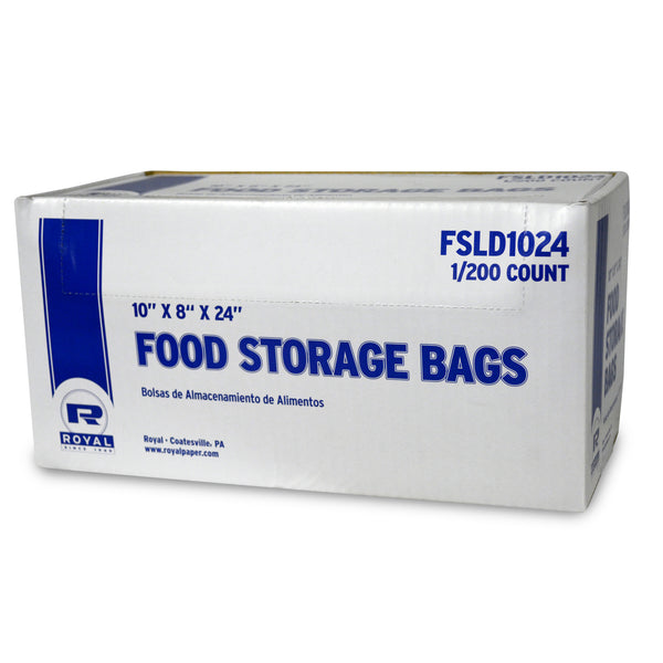 "FSLD1024 - 10"" x 8"" x 24"" Low Density Food Storage Bags Sample, for Customer Service Use Only"