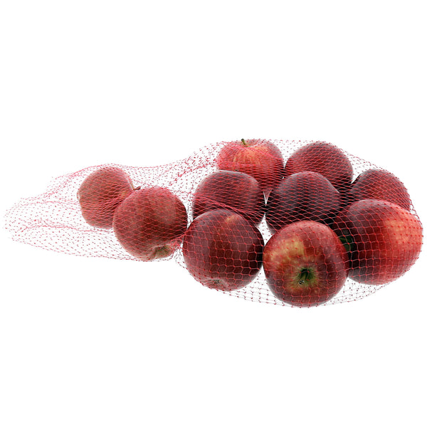"Apples in 24"" Red Plastic Mesh Bag"