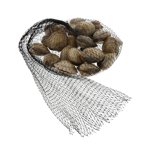 "Clams in 24"" Black Plastic Mesh Bag"