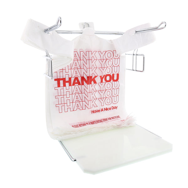 "1/6 Thank You Bags, 11.5"" x 6.5"" x 21"" on Rack"