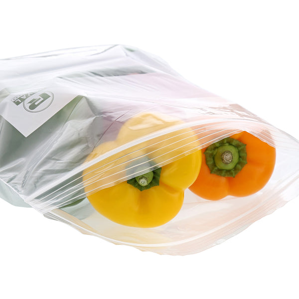 "13"" x 15.63"" Double Zipper Two Gallon Bag with Peppers"