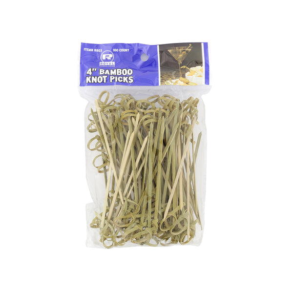 "4"" Bamboo Knot Picks, Package of 100"