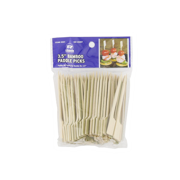 "3.5"" Bamboo Paddle Picks, Package of 100"