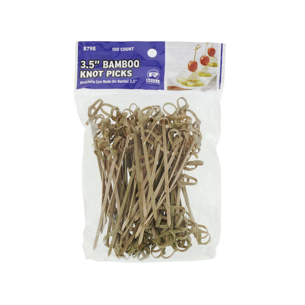 "3.5"" Bamboo Knot Picks, Package of 100"