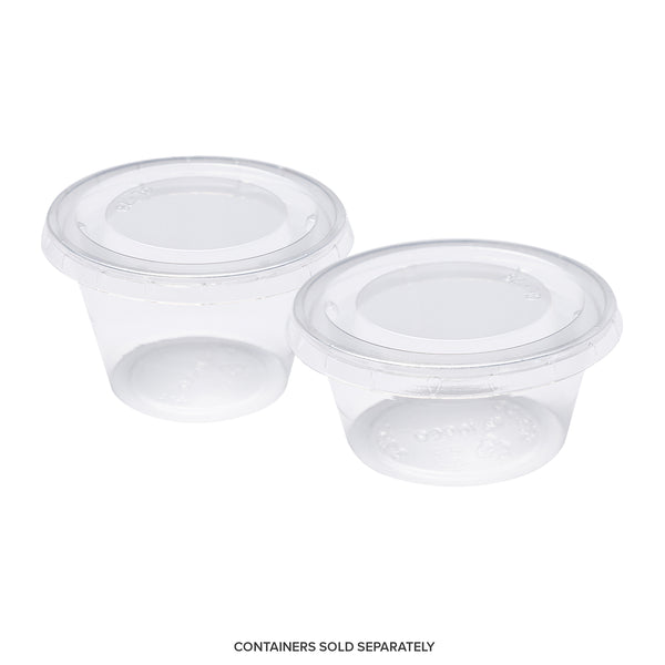 CPCL-34 - 3.25 to 4 oz. PLA Clear Portion Cup Lids Sample, for Customer Service Use Only