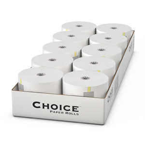 "2.25"" x 90' Carbonless 2 Ply POS Tray Register Rolls, Case of 40"