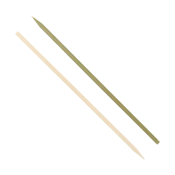 "10"" Flat Bamboo Skewers - Front and Back"