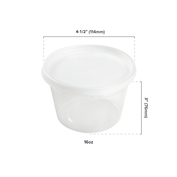 16 oz Clear Deli Container Dimensions