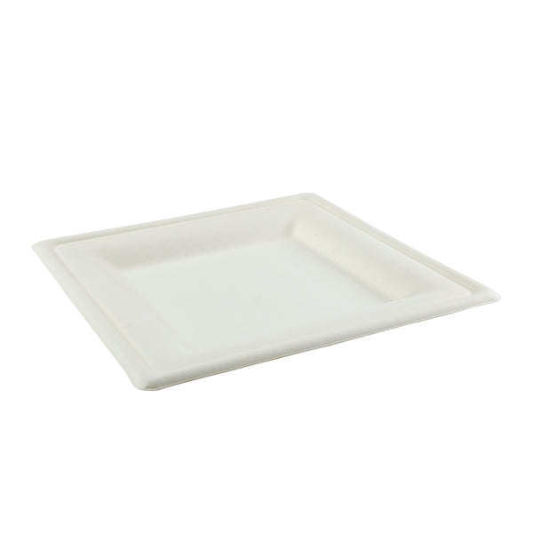 "10"" Square Heavy Molded Fiber Plates, Case of 250"