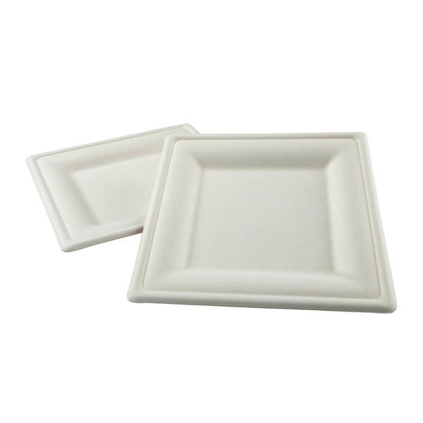 "10"" Square Heavy Molded Fiber Plates"