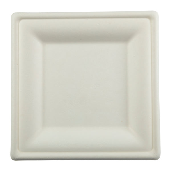 "10"" Square Heavy Molded Fiber Plate"