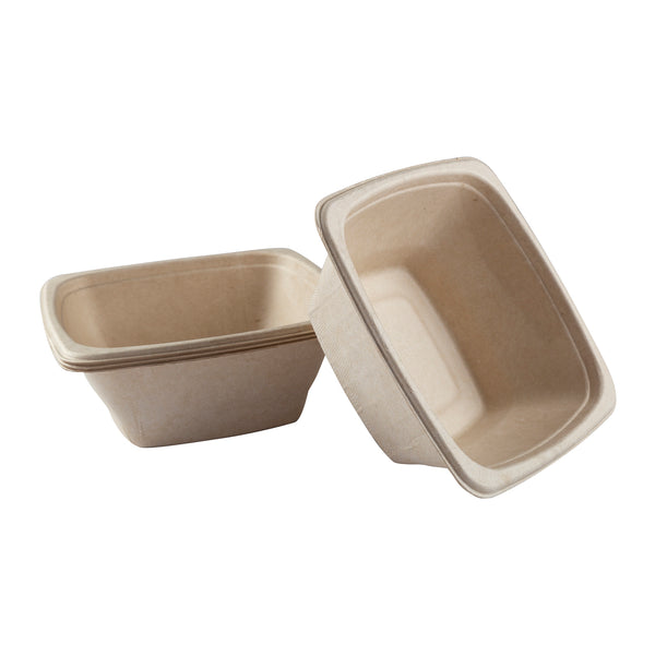 DPT-32B - 32 oz. Square Tan Bowls Sample, for Customer Service Use Only