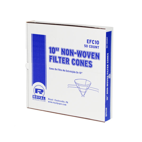 "10"" Econoline Non Woven Filter Cone, Package of 50"