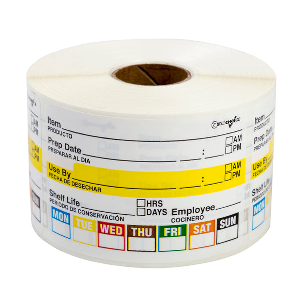 "2"" x 3"" Food Rotation Labels, Case of 12,000"