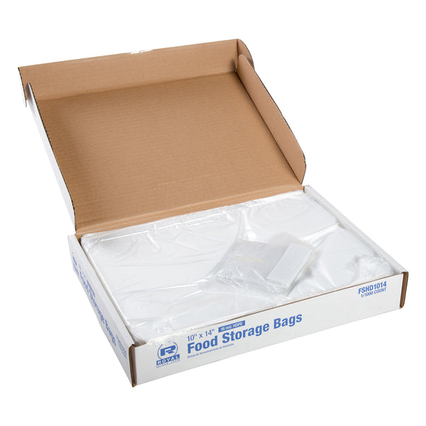 "10"" x 14"" High Density Food Storage Bags, Case of 1,000"