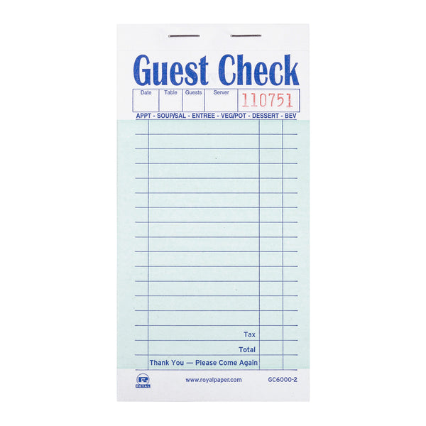 Green Interleave Carbon Guest Check-2 Part Booked