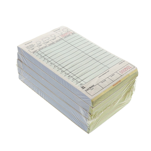 GC1200-1 - 15 Line White Guest Checks-1 Part Booked Sample, for Customer Service Use Only
