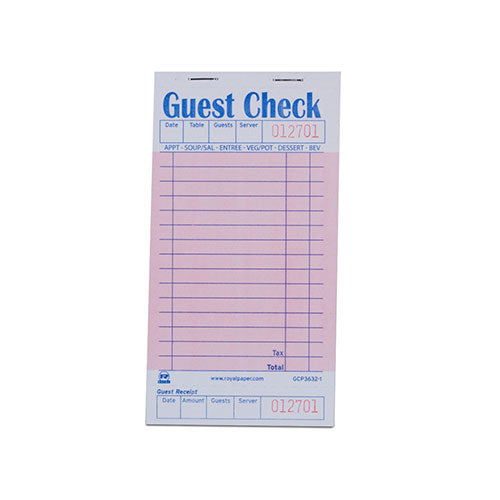Pink Guest Check-1 Part Booked