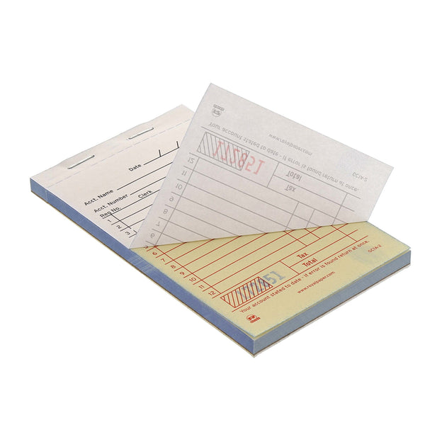 GC1A-2 - White Carbonless Sales Books-2 Part Booked Sample, for Customer Service Use Only