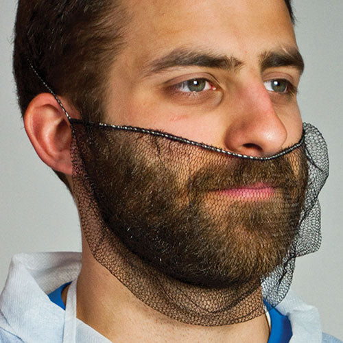 Dark Brown Nylon Honeycomb Beard Protector, Latex Free