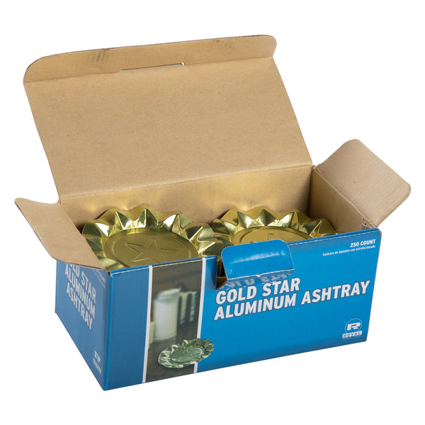 Gold Star Aluminum Ashtrays, Package of 250