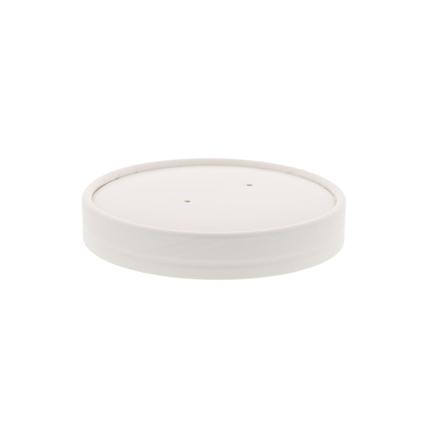 PFC16WCOM - 16 oz. White Paper Food Container and Lid Combo Sample, for Customer Service Use Only