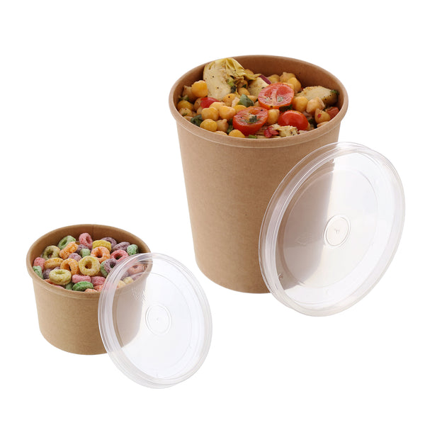 Vented Plastic Lids with Food Containers