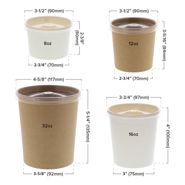 Vented Plastic Lid and Container Sizing
