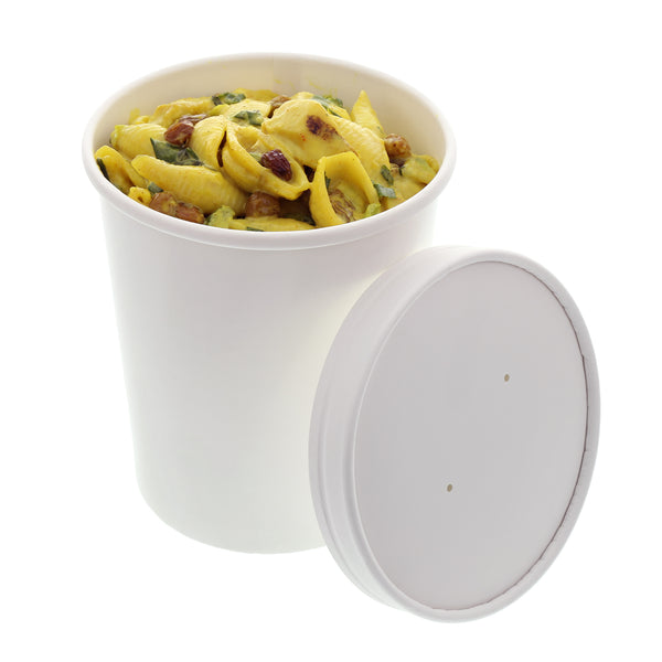 PFC32WCOM - 32 oz. White Paper Food Container and Lid Combo Sample, for Customer Service Use Only