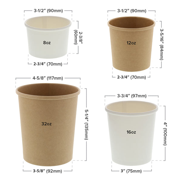 Paper Food Container Sizing