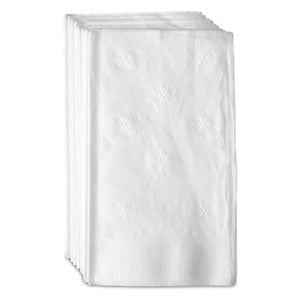 "15"" x 17"" 1 Ply White Dinner Napkins, Case of 3,000"