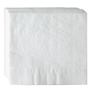 "16.5"" x 16.5"" 2 Ply White Dinner Napkins, Case of 3000"