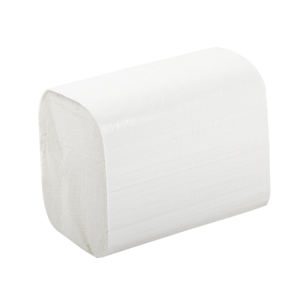 "7.8"" x 6.25"" 2 Ply White Interfold Embossed Napkins, Case of 6,000"