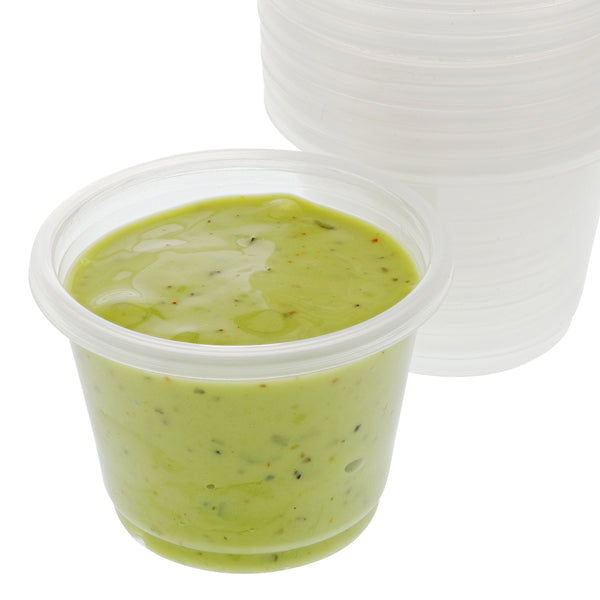 1 Oz. Poly Translucent Portion Cups with Sauce