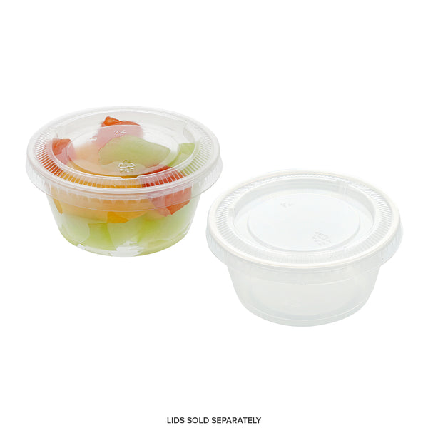 PCP325C - 3.25 oz. Poly Translucent Portion Cups Sample, for Customer Service Use Only