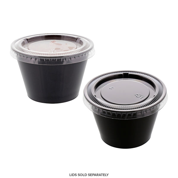 PCP400B - 4 oz. Poly Black Portion Cups Sample, for Customer Service Use Only
