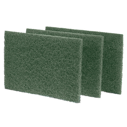 "6"" x 9"" Green Heavy Duty Scouring Pads"