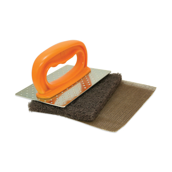 Grill Cleaning Kit, 1 Holder, 1 Pad, 1 Screen