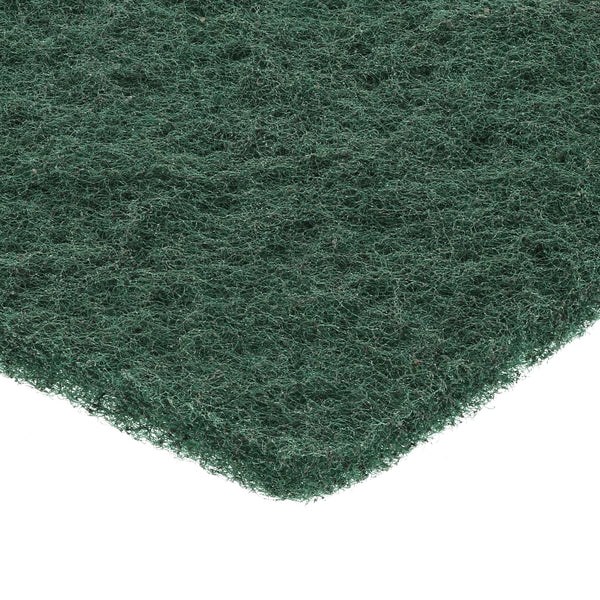 "6"" x 9"" Green Medium Duty Scouring Pad Closeup"