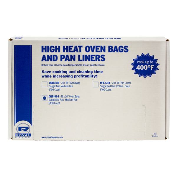 "18"" x 24"" 11 Quart High Heat Oven Bags, Package of 100"