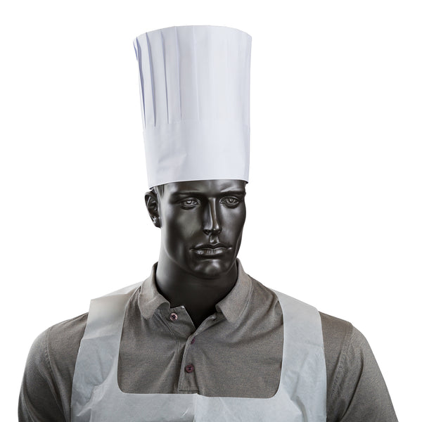 "9"" Pleated Chef Hat with Comfort Band"