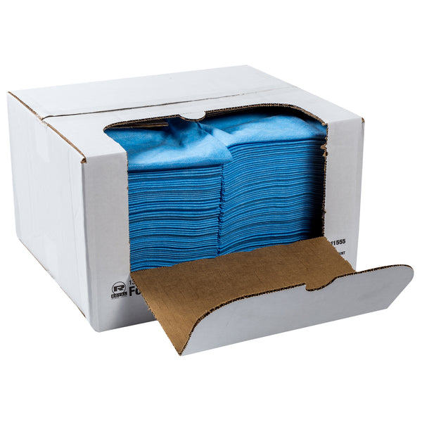 "13"" X 21-1/2"" Medium Weight Blue Foodservice Towels"