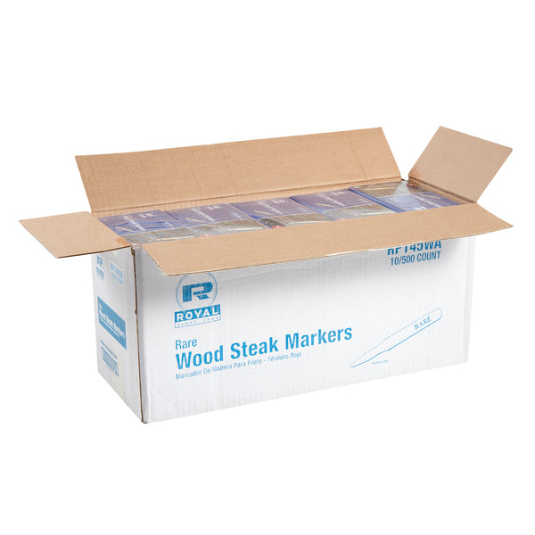 Rare Wood Steak Markers, Case of 5,000