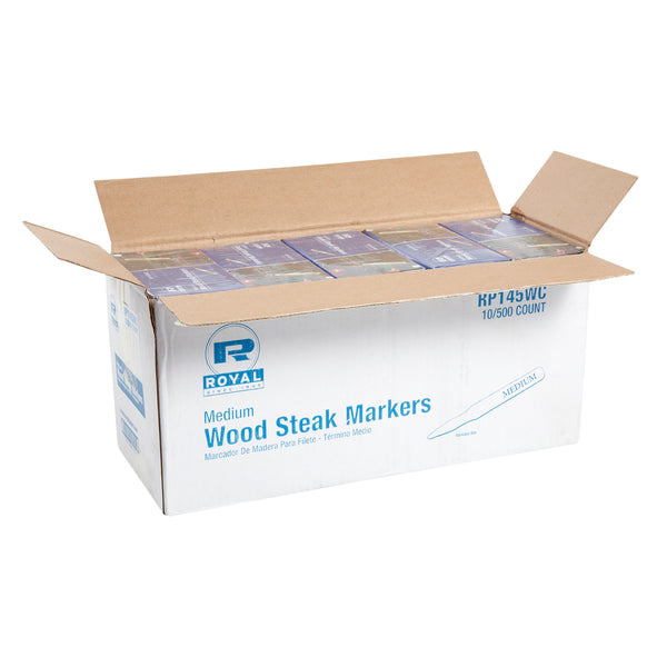 Medium Wood Steak Markers, Case of 5,000