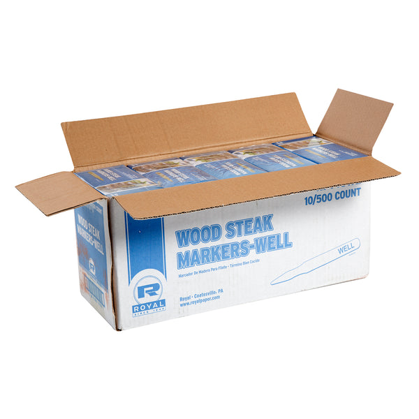 Well Wood Steak Markers, Case of 5,000